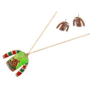 Jewelry - REINDEER SWEATER PENDANT CHRISTMAS NECKLACE SET